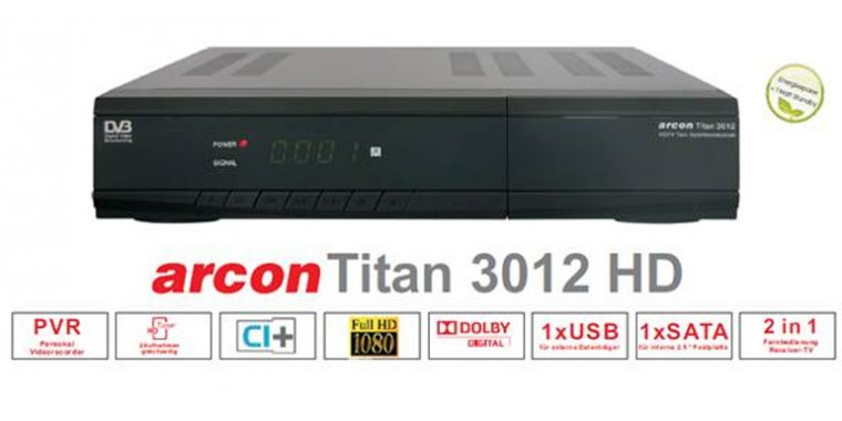 Arcon TITAN Full-HD CI+ 500GB ORF Paket Twin Tuner