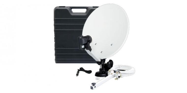 Camping Antenne im Koffer inkl. Single LNB/Kabel *Aussteller*