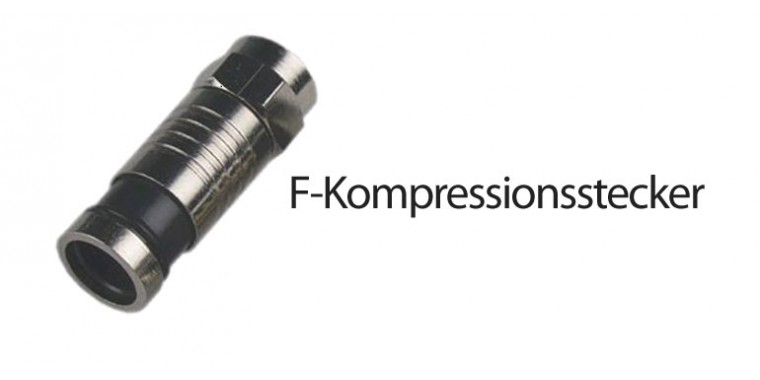 F-Kompressionsstecker RG6 7mm