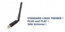 Linux Wireless USB Adapter mit 3dbi Antenne (WLAN/WiFi)