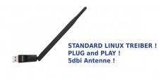 Linux Wireless USB Adapter mit 5dbi Antenne (WLAN/WiFi)