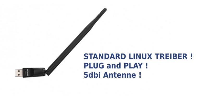 Linux Wireless USB Adapter mit 5dbi Antenne (WLAN/WiFi)