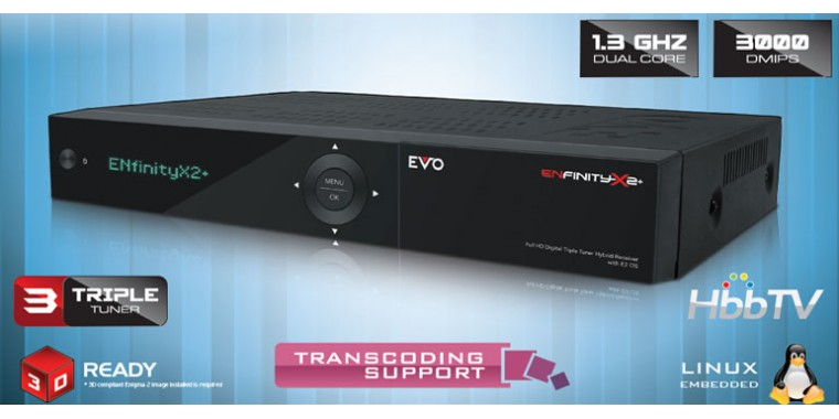 Optibox Evo Enfinity X2+ Linux E2 Triple Tuner *Aussteller*