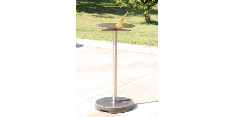 Sundial Horizon D40 unique location produces brass incl. stainless steel / granite column