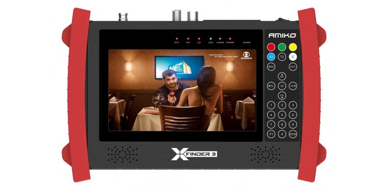 Amiko X-Finder 3 Pro Triple DVB-S2/T/C Satfinder Messgerät