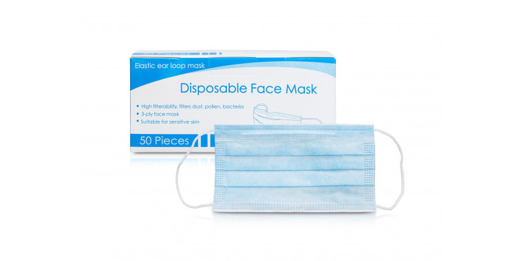 Respirator mask, disposable mouth and nose, protective mask 50 pieces