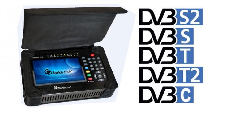 Clarke-Tech 2013 Triple DVB-S2/T/C Messgerät