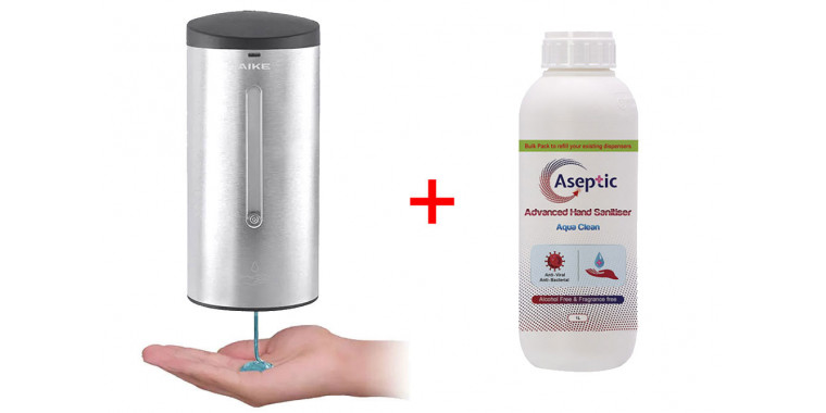 Automatic disinfectant dispenser 700ml non-contact with sensor + 1l disinfectant not flammable