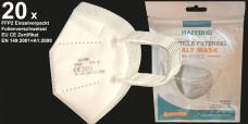 20 x FFP2 Atemschutz Maske einzelverpackt CE EN 149:2001 + A1:2009