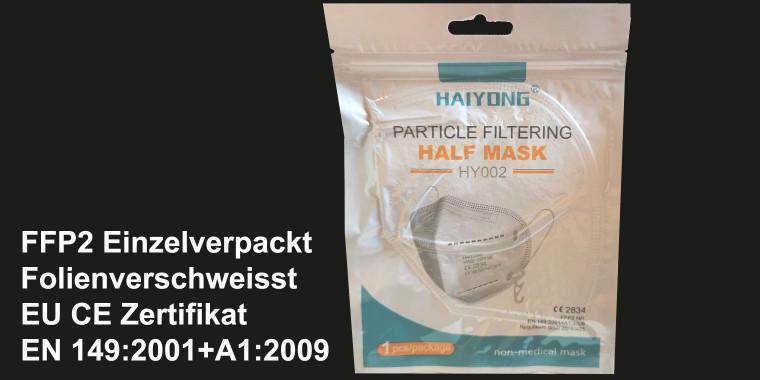 800 x FFP2 Atemschutz Maske Weiß einzelverpackt