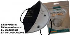 800 x FFP2 Atemschutz Maske Schwarz einzelverpackt