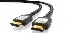 HDMI/HDMI Kabel 10m UHD HishSpeed Gold Ethernet weiß