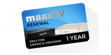 MaaxTV Renewal Card, 1 year Subscription