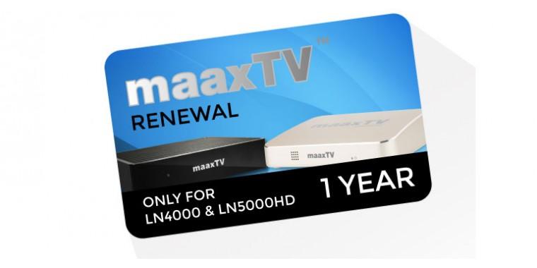 MaaxTV Verlängerung 1 Jahr