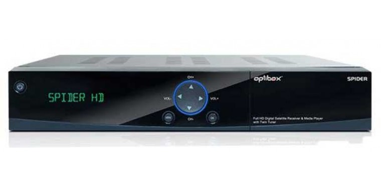 Optibox Spider Full-HD 2xDVB-S2 SAT mit Display