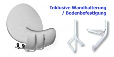 Wave Toroidal T90 Hellgrau inkl. Wandhalter/Standfuss