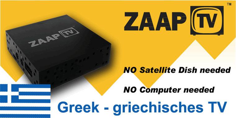 ZaapTV HD709N - 3 Jahre ZaapTV Greek