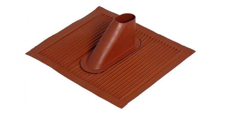 Alu-Dachziegel 45x50 cm ziegelrot für Masten bis Ø 60 mm